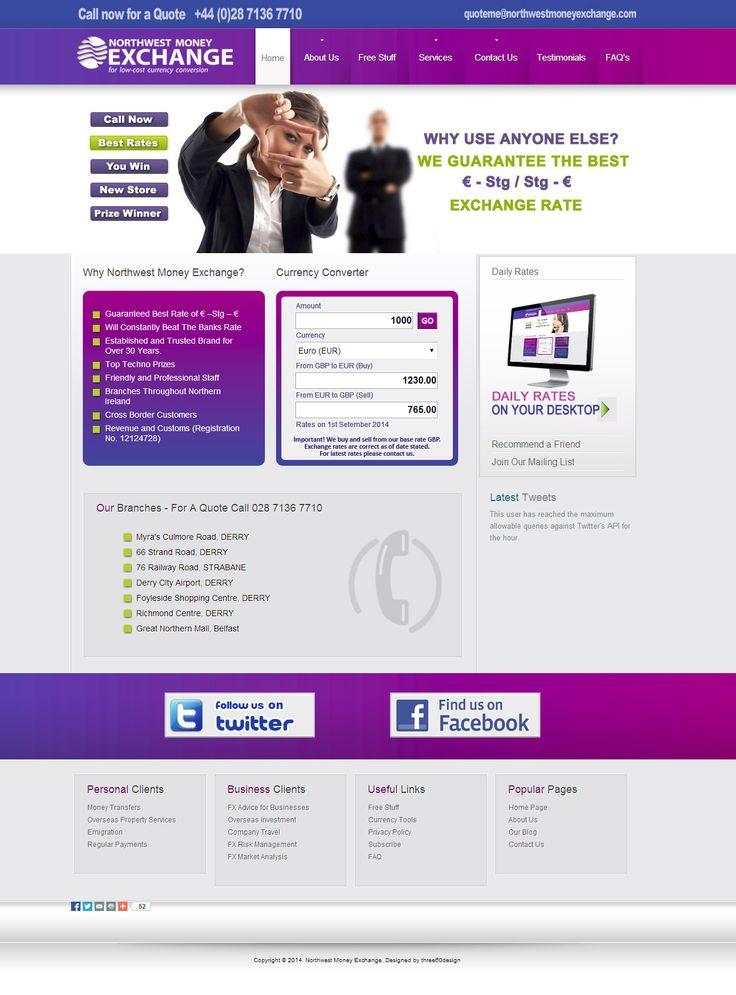Northwest Money Exchange - three60design Banbridge Northern Ireland - Web Design
