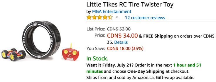 Amazon Canada Deals: Save 50% on Kiddopotamus Have It All Ball & 35% on Little Tikes RC Tire Twister Toy http://www.lavahotdeals.com/ca/cheap/amazon-canada-deals-save-50-kiddopotamus-ball-35/226374?utm_source=pinterest&utm_medium=rss&utm_campaign=at_lavahotdeals