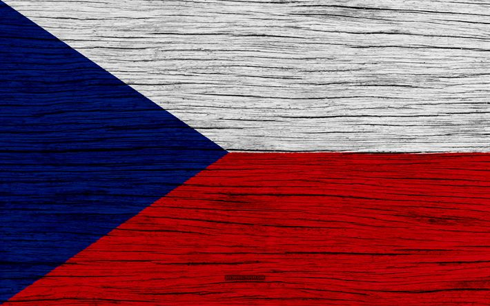 Download wallpapers Flag of Czech Republic, 4k, Europe, wooden texture, Czech flag, national symbols, Czech Republic flag, art, Czech Republic