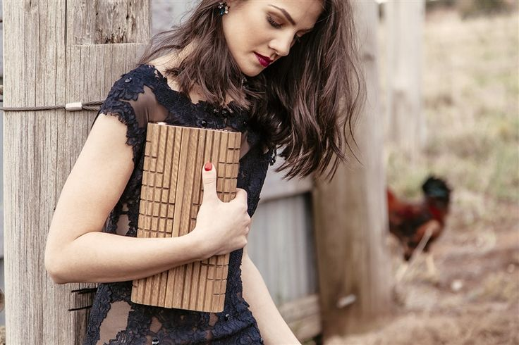 Rooster's Rook creates luxurious timber clutches for women who demand to be noticed. #bags #accessories #lifeinstyle