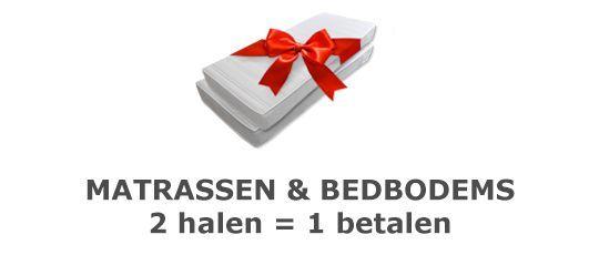 Nieuwe actie: 2e matras en/of bedbodem gratis