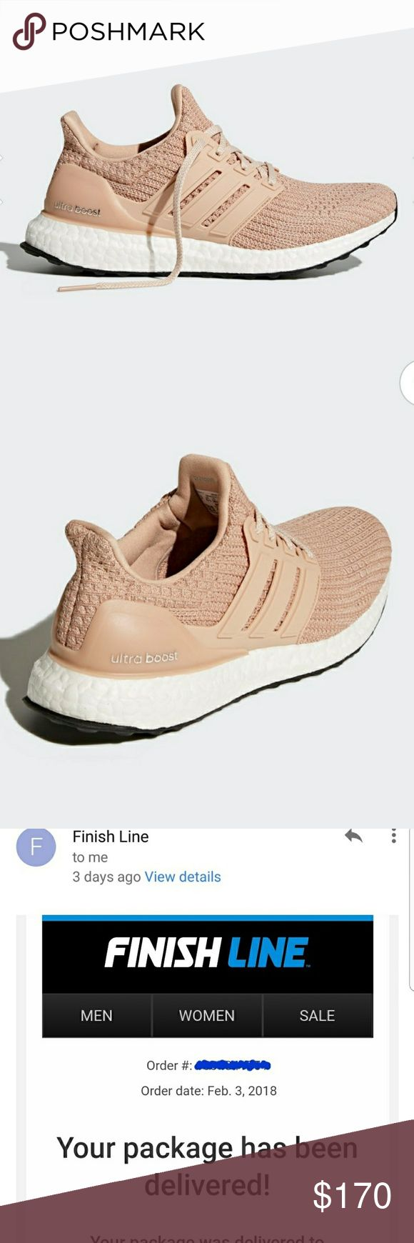 Adidas ultra boost womens size 6.5 Ash Pearl color Adidas ultra boost womens size 6.5 Ash Pearl color.  Just bought these a few days ago. Just a bit too small for me. Too bad accidentally threw the box away so I can't return ☹.  I've worn them only twice.   LOVE everything about these!!  Selling so I can re-order the same color just a bigger size. adidas Shoes Sneakers