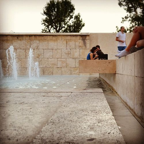 #ara_pacis_museum #richard_meier #tiber_river #travertine #weight #lightness #water
