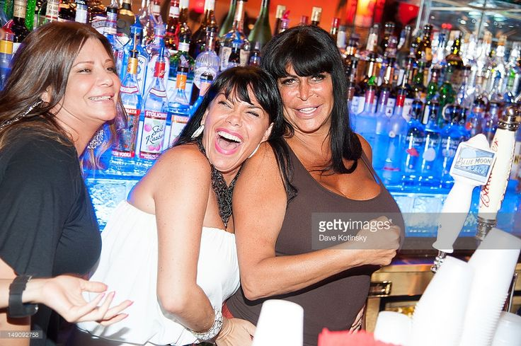 Karen Gravano,Angela 'Big Ang' Raiola and Renee Graziano at Drunken Monkey on July 22, 2012 in New York City.