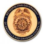 Nashville Metro Police 3D Coin