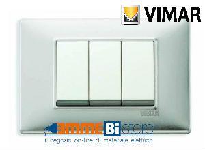 Placca 3 posti Vimar Plana 14653.81 #vimar #seriecivile #plana #prezzoplacche #arredare #arredamento #design #illuminazione #interni #emmebistore #placca
