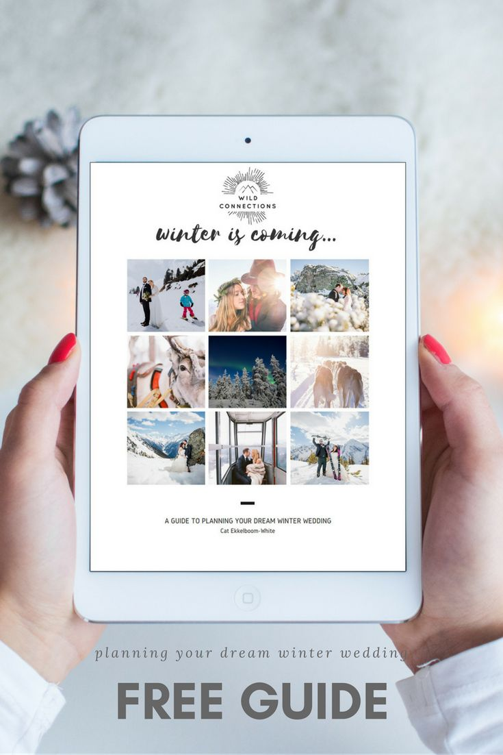 Free Guide - Planning Your Dream Winter Wedding