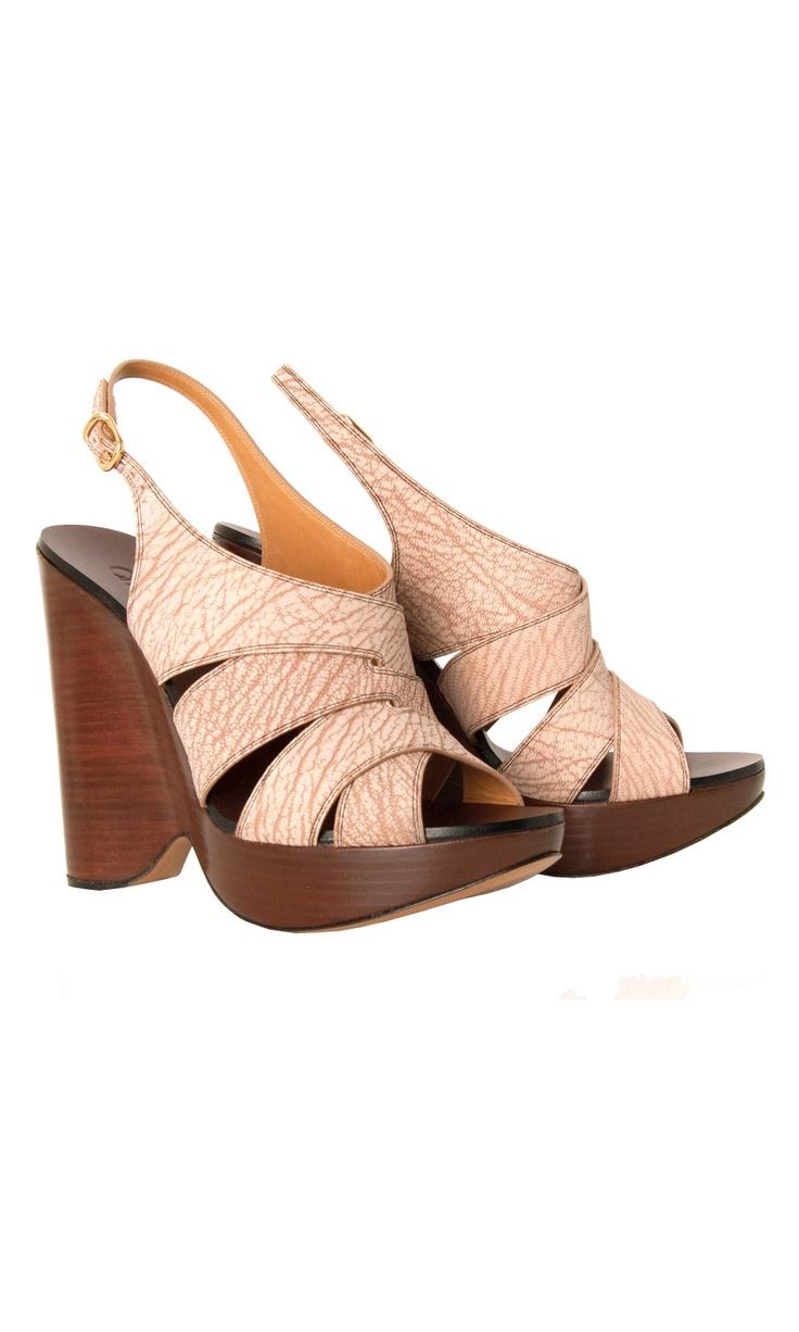 Chloé  Leather Wedges