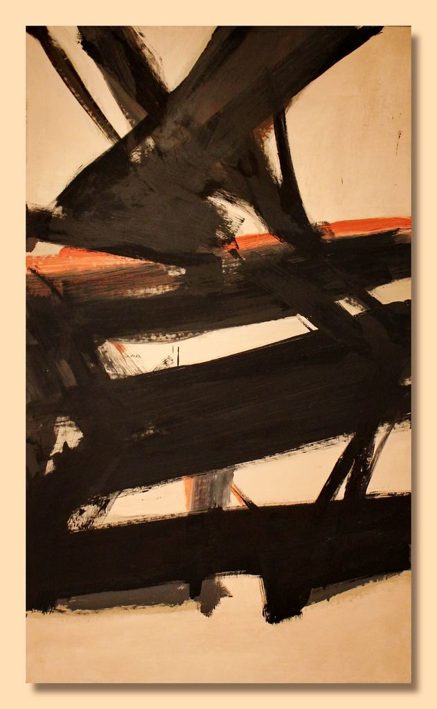 Franz Kline - Horizontal Rust (1960) - Cincinnati Art Museum | Flickr - Photo Sharing! Franz Kline Paintings, plastic arts, visual arts, art, abstract expressionism
