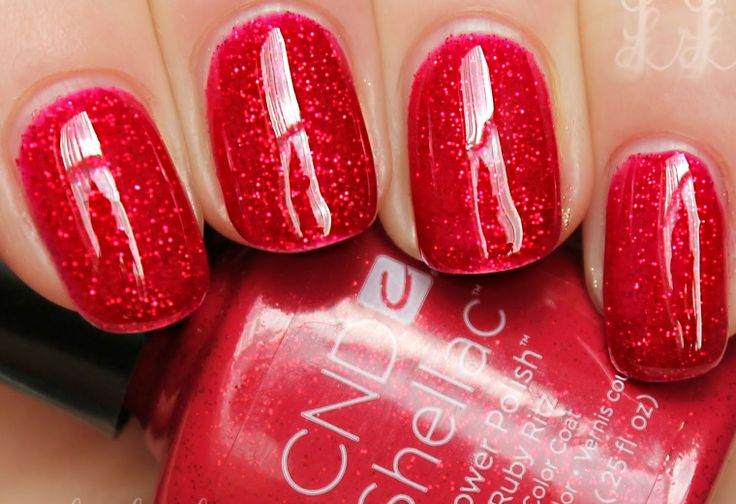 The most popular Shellac colour of ALL TIME - Ruby Ritz