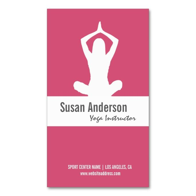 2156 best Yoga Business Cards images on Pinterest