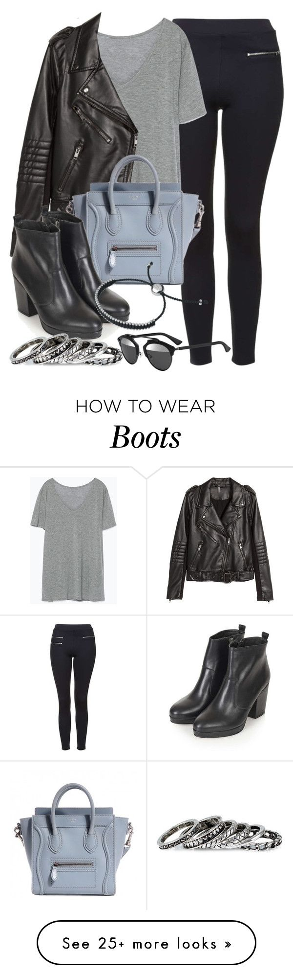 """""""Style #9863"""" by vany-alvarado on Polyvore featuring Topshop, Zara, H&M, Pieces, Links of London, Christian Dior, women's clothing, women, female and woman"""