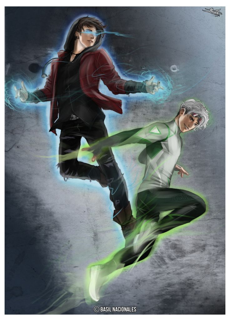 "The Twins ""He's weird and he's fast"" by b-tandoodlez - Wiccan and Speed in the MCU"