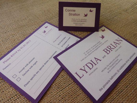 Engagement or Wedding InvitationDove Range of by CreateTheDate, $4.21