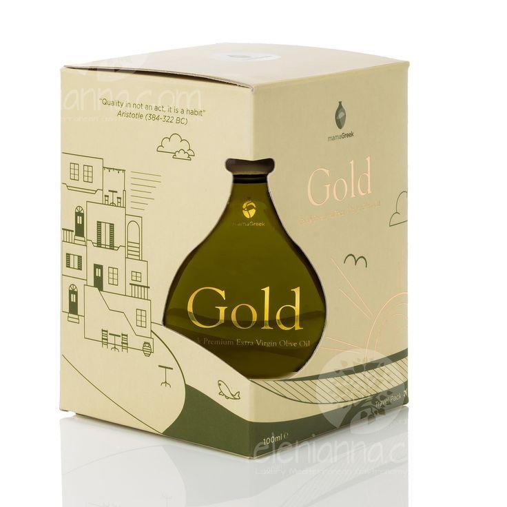 Show details for Gold Extra Virgin Olive Oil Premium Edition  MamaGreek 100ml