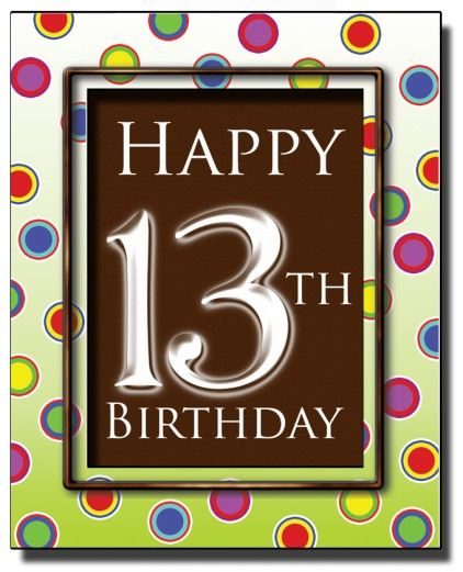 The 25 best 13th birthday wishes ideas – 13 Year Old Birthday Card