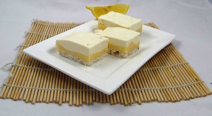 Try this Lemon cheesecake slice made with gelatin - it may actually be good for your skin
