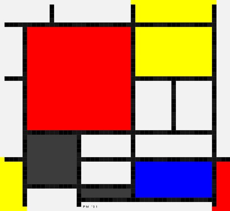 モンドリアン・コンポジション (Mondrian composition) - otauwohikki's diary