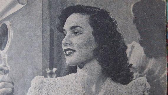 Elegant 1930's original vintage Patons knitting by Gladyswasagirl, $6.00