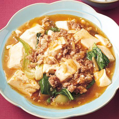 チンゲンサイ入り麻婆豆腐 | 外処佳絵さんの麻婆豆腐の料理レシピ | プロの簡単料理レシピはレタスクラブネット