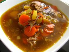 Beef Brisket Vegetable Soup made with leftover brisket. Keep in mind this is a method recipe. You can create this same type of soup with a roasted chicken, turkey or pork butt that you've cooked in your crockpot and saved the stock it created and then have some leftover protein.