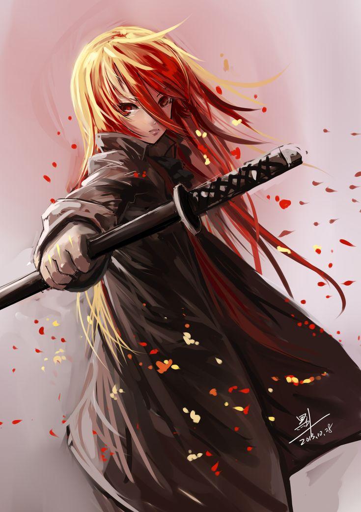 Anime picture shakugan no shana shana b1944 long hair - Anime girls with fire ...