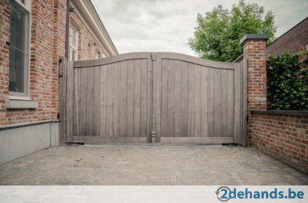 Houten poorten en balken nieuwe molenweg pinterest houten poorten balken en poorten - Tuin oprit plaat ...