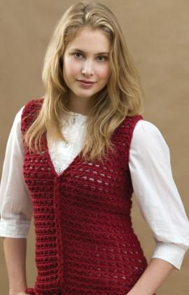 Crochet Loop-Cable Vest