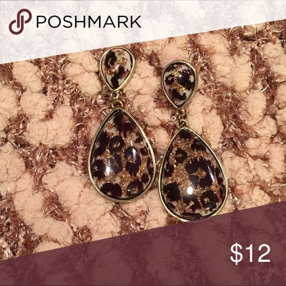 "Awesome animal print earrings! Reposh of these fantastic earrings!  They're too heavy for my ears, but I love them!  1.5"" long and SO on trend!  Asking what I paid for them. Jewelry Earrings"