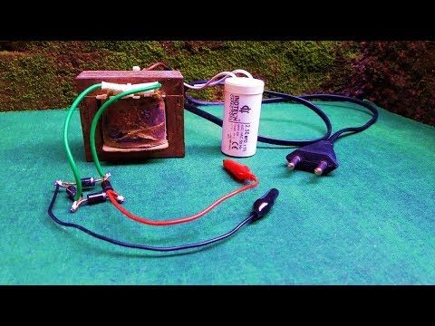 how to make 12v battery charger,using fan capacitor - YouTube