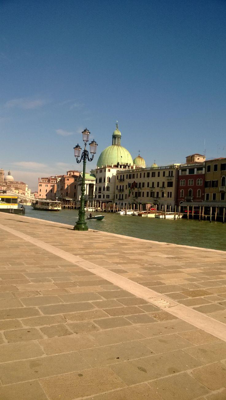 A primeira foto que tirei de Veneza!
