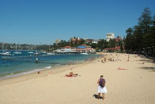 Click here for more information on this photo of Manly Beach Harbourside. You can buy handmade greeting cards featuring this photo for $4.50 at www.theshortcollection.com.au/Sydney-Beaches
