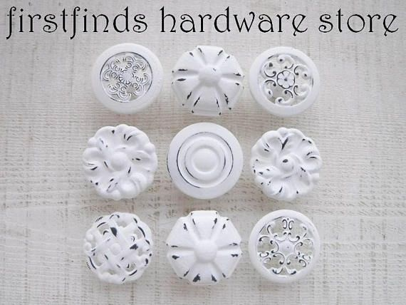 Pin On Shabby Chic Knobs By Firstfinds Hardware Store On Etsy