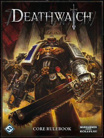 """Do not ask""""Why Kill the Alien?"""", rather ask,""""Why not?""""  Deathwatchis the third in theWarhammer 40,000roleplaying game series. WhileDark Heresyfocuses on agents of the Inquisition, andRogue Traderfocuses onrogue tradersand their crew,Deathwatchcasts the players asSpace Marinesof the Ordo Xenos Deathwatch, a sort of special operations group tasked primarily with defending humanity from alien horrors. Even among the Space Marines, the Deathwatch are considered to be an elite unit…"""