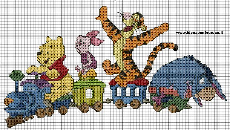 Les 46 meilleures images du tableau broderie disney winnie for Punto croce disney winnie the pooh