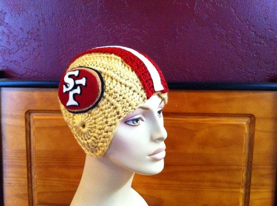 Handmade crocheted football helmet.  Made to order.  FREE SHIPPING!