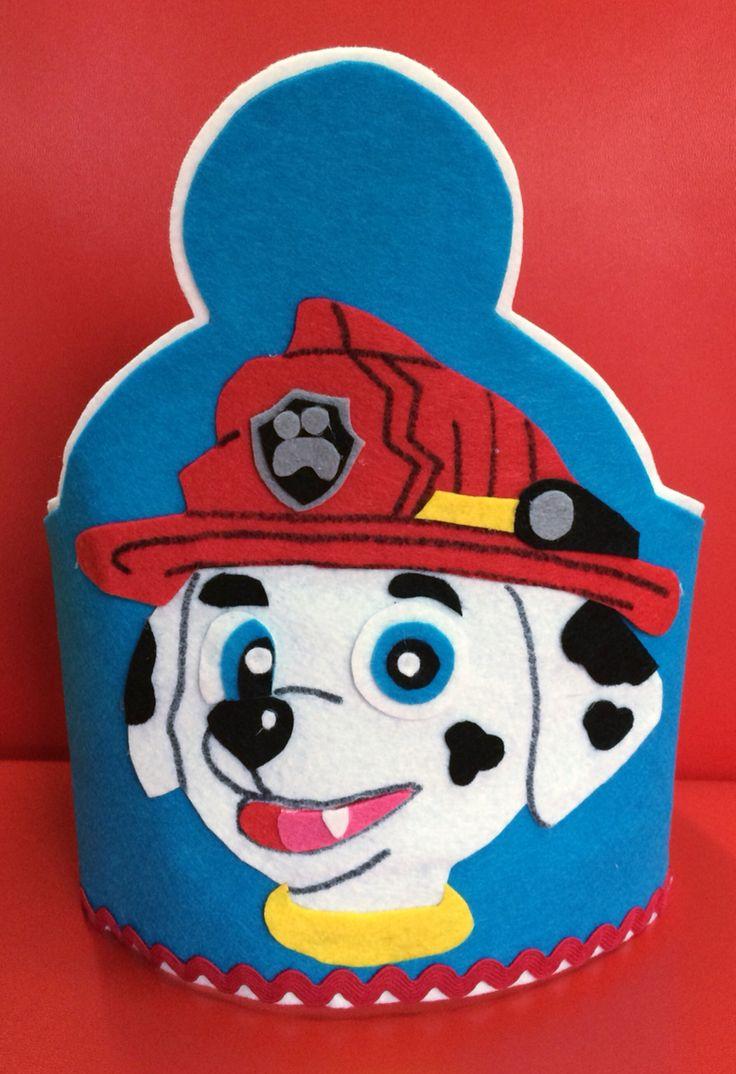 Corona patrulla canina cumple alex y carla pinterest - Manualidades patrulla canina ...