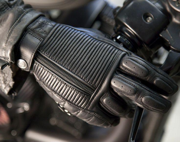 Roland Sands Diesel Gloves - Black   Motorcycle Gloves   FREE UK delivery - The Cafe Racer
