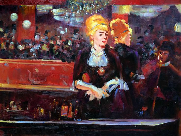 an analysis of a bar at the folies bergere a painting by edouard manet Édouard manet: edouard manet,  (1863) and a bar at the folies-bergère  it was also at argenteuil that manet painted monet painting on his studio.