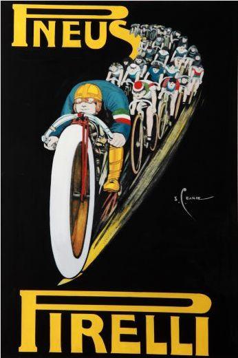 Pneus Pirelli Vintage Poster