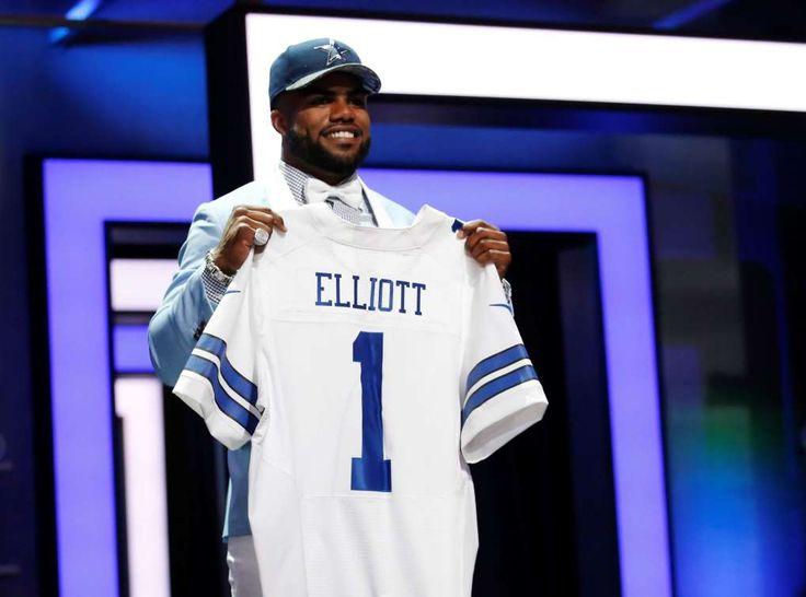 NFL Jersey's Men's Dallas Cowboys Ezekiel Elliott Pro Line Navy Big & Tall Player Jersey