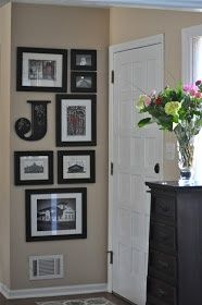 Initials and wall designs for the entry way
