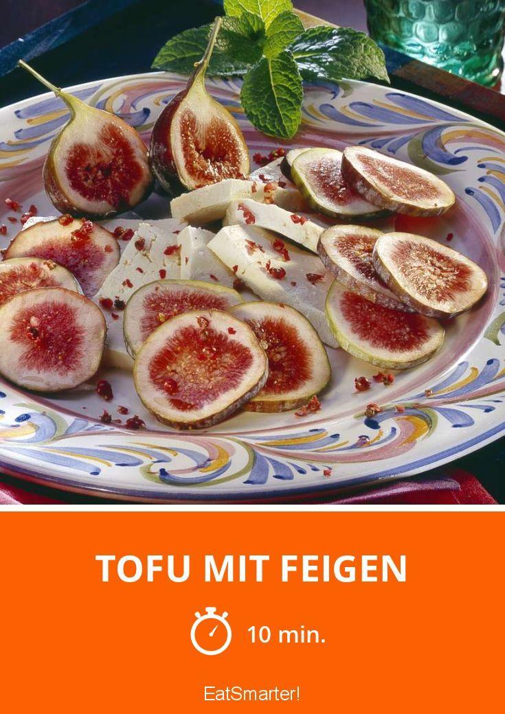Leckerer Tofu mit saftigen Feigen   VEGAN