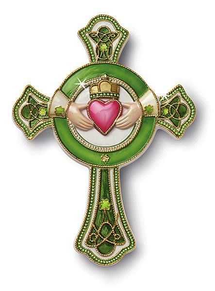 ccloisonne Celtic claddagh cross