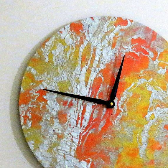unique wall clock  art deco  ready to ship  decor and