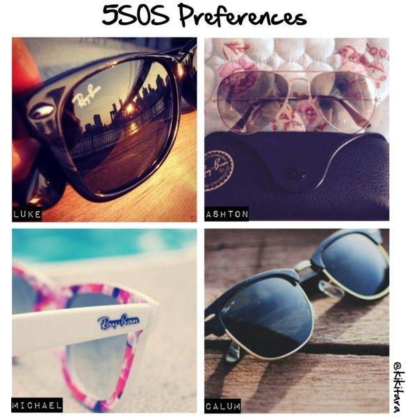 """5SOS Preferences: the Raybans he gives you"" by kikitara on Polyvore"
