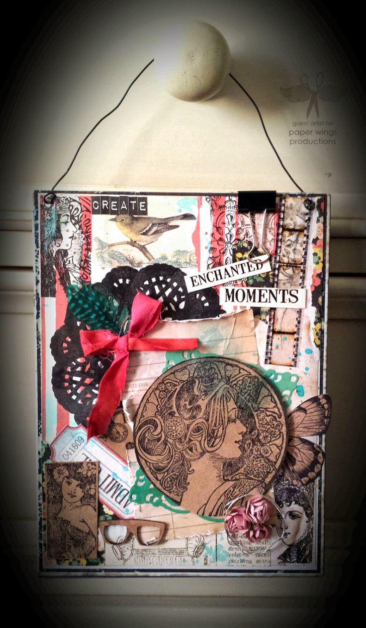 Paper Wings Productions: Guest Designer: Spotlight Sunday: Vintage Domino Melange