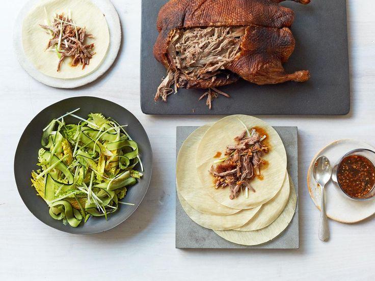 Crispy Roast Duck with Pancakes & Dipping Sauce Recipe | Gordon Ramsay
