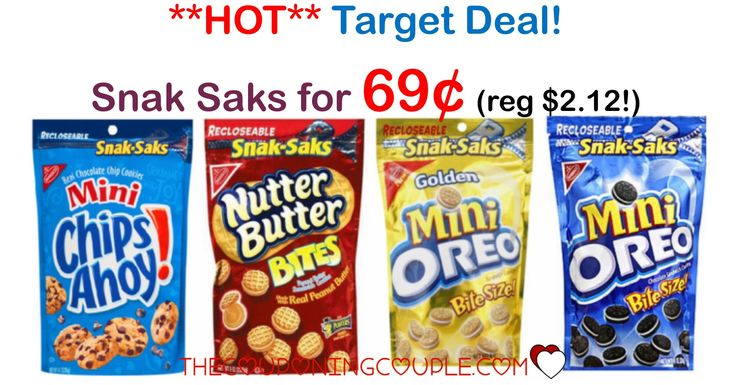 HOT BUY at TARGET! Get Nabisco Snak Saks for only $0.69 each! Compare that to the regular price of $2.12 and you have an AWESOME STOCK UP DEAL!  Click the link below to get all of the details ► http://www.thecouponingcouple.com/nabisco-snak-saks/ #Coupons #Couponing #CouponCommunity  Visit us at http://www.thecouponingcouple.com for more great posts!