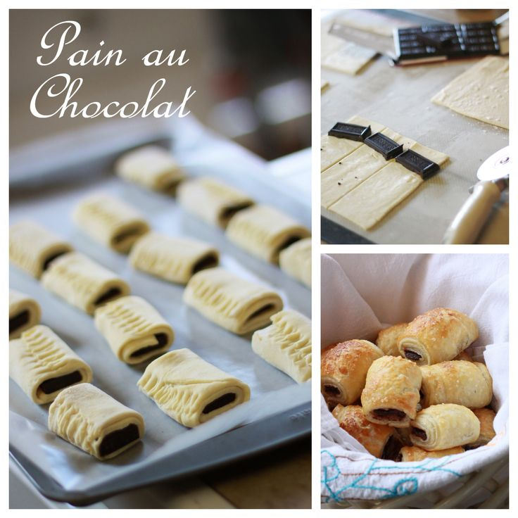 Dark chocolate and puff pastry for a simple yet very elegant party food!